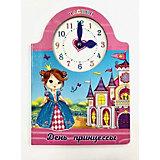 """Книга на картоне с часиками """"День принцессы"""""""