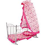 Кроватка-качалка Buggy Boom Loona, розовый с кружочками