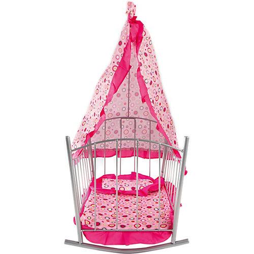 Кроватка-качалка Buggy Boom Loona, розовый с кружочками от Buggy Boom