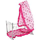 Кроватка-качалка Buggy Boom Loona, розовый с кольцами