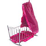 Кроватка-качалка Buggy Boom Loona, темно-розовый с узором