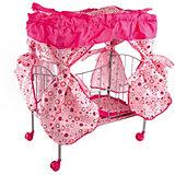 Кроватка с балдахином Buggy Boom Loona, розовый с кружочками