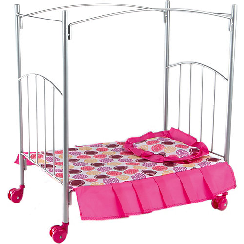 Кроватка с балдахином Buggy Boom Loona, белый с кружочками от Buggy Boom