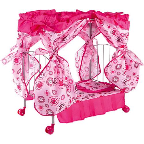 Кроватка с балдахином Buggy Boom Loona, розовый с кольцами от Buggy Boom