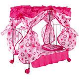 Кроватка с балдахином Buggy Boom Loona, розовый с кольцами