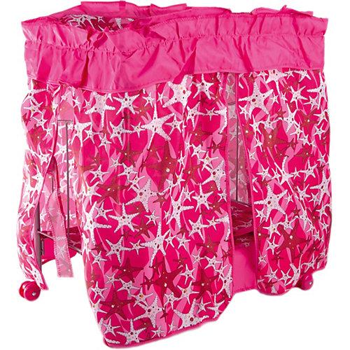 Кроватка с балдахином Buggy Boom Loona, темно-розовый со звездами от Buggy Boom