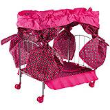 Кроватка с балдахином Buggy Boom Loona, темно-розовый с узором