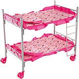 Кроватка двухэтажная Buggy Boom Loona, розовый с кружочками