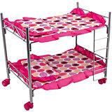 Кроватка двухэтажная Buggy Boom Loona, белый с кружочками