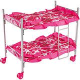 Кроватка двухэтажная Buggy Boom Loona, темно-розовый со звездами