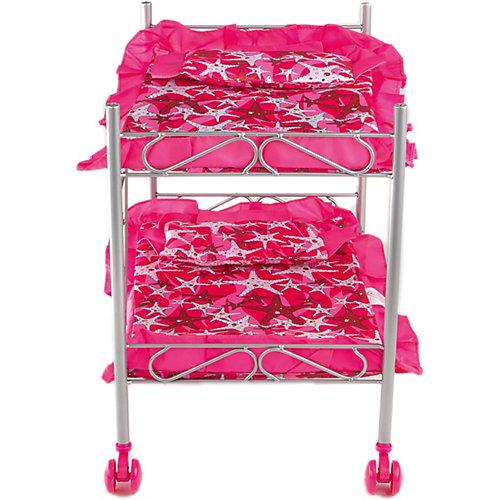 Кроватка двухэтажная Buggy Boom Loona, темно-розовый со звездами от Buggy Boom