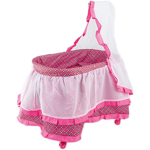Кроватка с балдахином Buggy Boom Loona, темно-розовый с узором от Buggy Boom