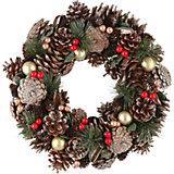 Рождественский венок House of seasons зеленый
