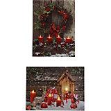 Рождественская картина House of seasons красная