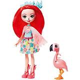 Кукла с любимой зверюшкой Enchantimals, Фенси Флэминг и Свош