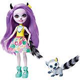 Кукла с любимой зверюшкой Enchantimals, Лариса Лемури и Ринглет