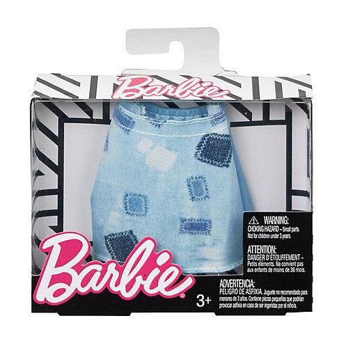Одежа для куклы Barbie, Голубая юбка с заплатками от Mattel