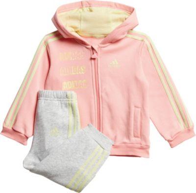 Baby Jogginganzug aus Fleece für Mädchen, adidas Performance
