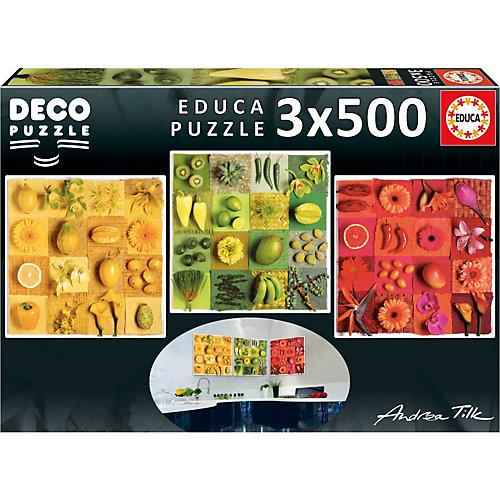 Пазл 3 в 1 Educa Три цвета, 500 элементов от Educa