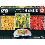 Пазл 3 в 1 Educa Три цвета, 500 элементов