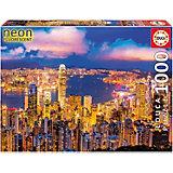 Пазл Educa Гонконг, небоскребы, с неоновым свечением, 1000 элементов