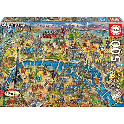 Пазл Educa Карта Парижа, 500 элементов от Educa