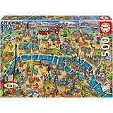 Пазл Educa Карта Парижа, 500 элементов