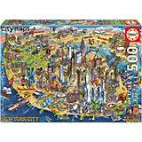 Пазл Educa Карта Нью-Йорка, 500 элементов