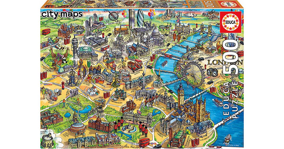 Puzzle London Map, 500 Teile