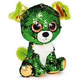 """Мягкая игрушка Fancy """"Щенок Изумруд"""", зелено-золотой"""