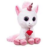 """Мягкая игрушка Fancy """"Глазастик единорог"""", бело-розовый"""