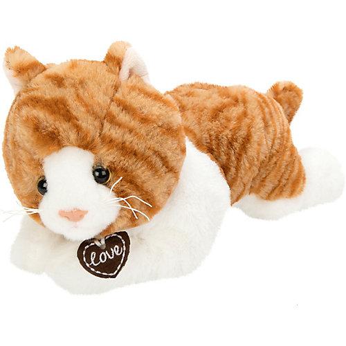 "Мягкая игрушка Fluffy Family ""Кошка Лежебока"", 28 см, бело-коричневая от Fluffy Family"