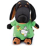 """Мягкая игрушка  Budi Basa Собака Ваксон в футболке с принтом """"Птичка с цветочком"""", 29 см"""