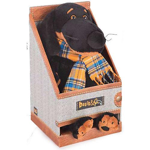 """Мягкая игрушка  Budi Basa Собака Ваксон в футболке с принтом """"Птичка с цветочком"""", 29 см от Budi Basa"""