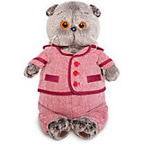 Мягкая игрушка  Budi Basa Кот Басик в красном пиджаке и брюках в ёлочку,  30 см