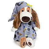 Мягкая игрушка  Budi Basa Собака Бартоломей в голубой пижаме в цветочки, 33 см