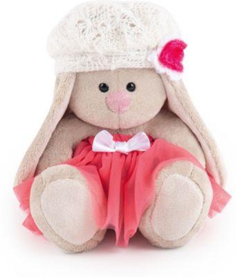 Мягкая игрушка  Budi Basa Зайка Ми в розовой юбке с белым беретом, 15 см