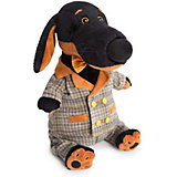 Мягкая игрушка  Budi Basa Собака Ваксон в сером костюме в клетку, 29 см