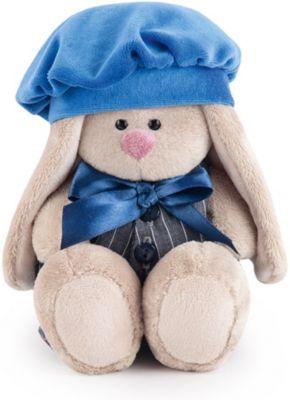 Мягкая игрушка  Budi Basa Зайка Ми в сером комбинезоне с синим беретом, 15 см