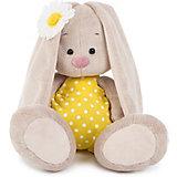 Мягкая игрушка  Budi Basa Зайка Ми в жёлтом комбинезоне и с ромашкой, 23 см