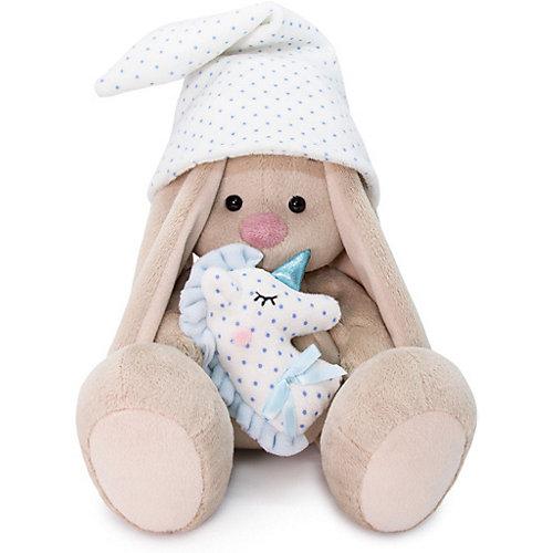 Мягкая игрушка  Budi Basa Зайка Ми с голубой подушкой-единорогом, 32 см от Budi Basa