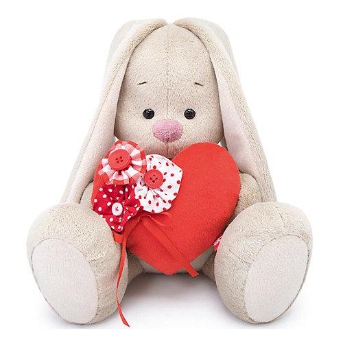 Мягкая игрушка  Budi Basa Зайка Ми с красным сердечком, 18 см от Budi Basa