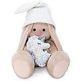 Мягкая игрушка  Budi Basa Зайка Ми с голубой подушкой-единорогом, 25 см