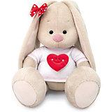 Мягкая игрушка  Budi Basa Зайка Ми в футболке с сердцем, 32 см