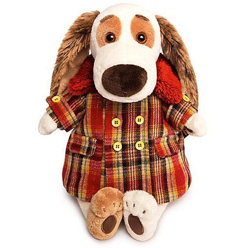 Мягкая игрушка  Budi Basa Собака Бартоломей в пальто в клетку, 33 см от Budi Basa