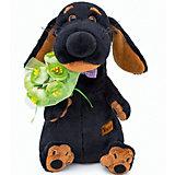 Мягкая игрушка  Budi Basa Собака Ваксон с букетом, 29 см