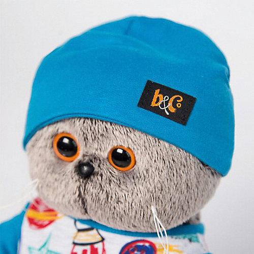 Мягкая игрушка  Budi Basa Кот Басик в футболке космос и в шапочке,  30 см от Budi Basa