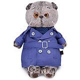 Одежда для мягкой игрушки  Budi Basa Плащ темно-синий и галстук для Басика, 22 см