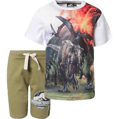 Jurassic World Set T-Shirt + Shorts  für Jungen