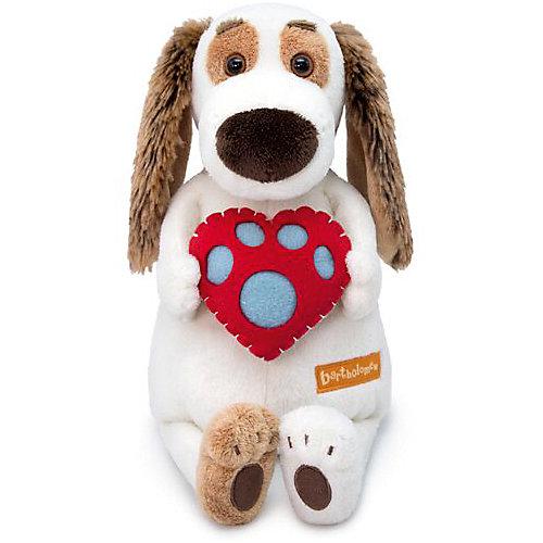 Мягкая игрушка  Budi Basa Собака Бартоломей с сердцем, 33 см от Budi Basa